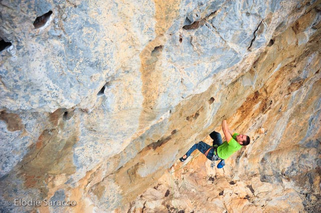 Simon Montmory in a 7b at Eros sector