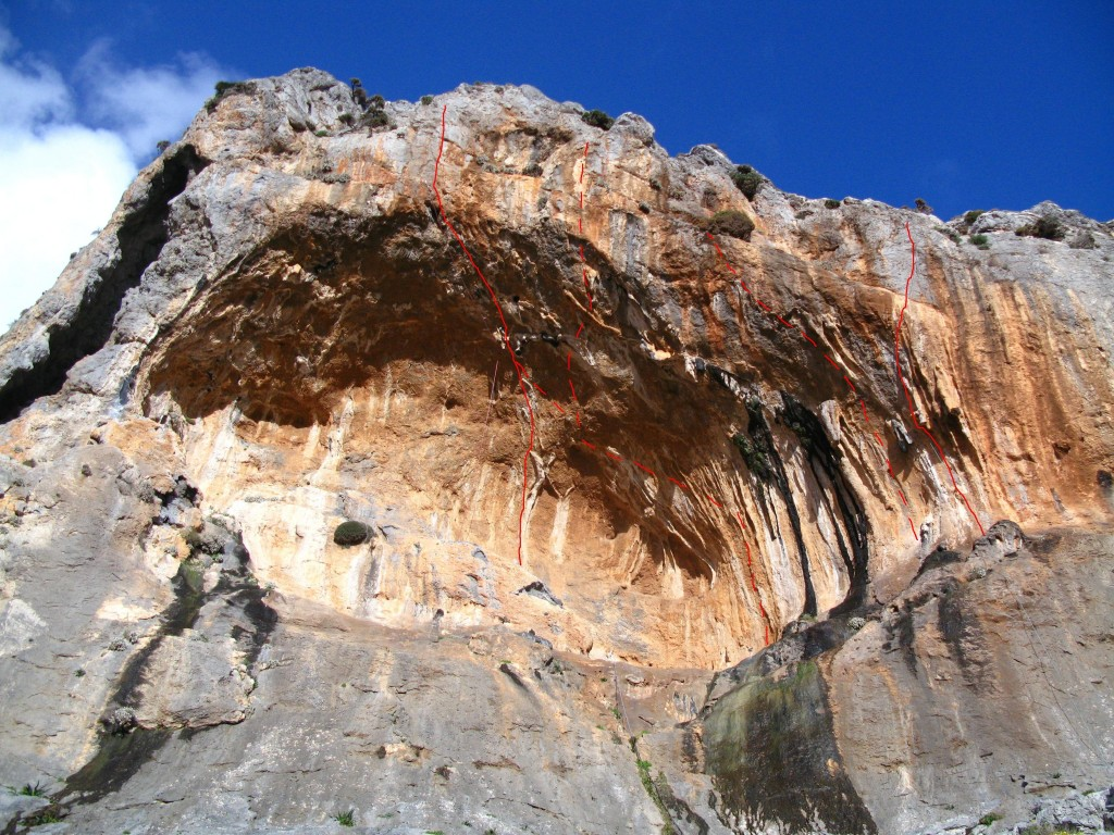 Feux et Flames 8c and Fossiles 7C(+) Arhi Canyon