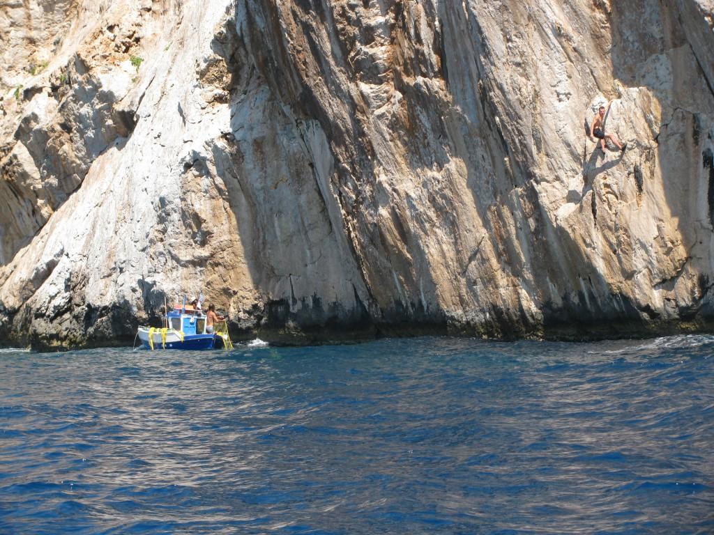 Deep Water Solo psychobloc Kalymnos