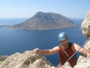 multi-pitch with kalymnos climbing guide